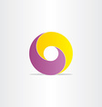 yellow purple abstract business icon vector image vector image