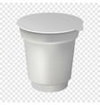 yogurt round box mockup realistic style vector image vector image