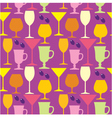 Seamless wine glasses pattern vector image