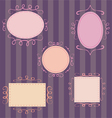 Set of cute hand-drawn retro frames vector image