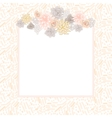 Flower square card template vector image