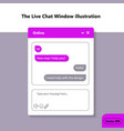 a simple chat window vector image vector image