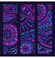 Abstract ethnic pattern card set vector image vector image