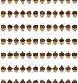 Acorn seamless pattern vector image vector image
