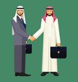 arabic businessmen in suit and traditional vector image vector image