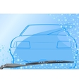 Automotive windshield and the car vector image