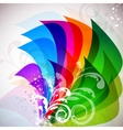 beautiful multicolor background with decorative el vector image