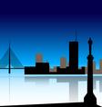 Belgrade skyline vector image vector image