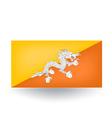 Bhutan Flag vector image vector image
