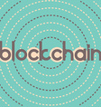 blockchain dashed circles vector image