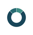 blue green circle chart infographic template vector image vector image