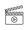 clapboard linear icon vector image