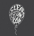 clear your mind cant in balloon on vintage vector image vector image