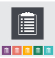 clipboard icon vector image vector image