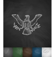 coat of arms USA icon Hand drawn vector image