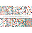 collection of bright colorful seamless patterns vector image vector image