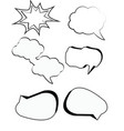 comic bubbles cartoon text boxes set with cloud vector image