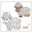 cute cartoon sheep with fluffy fur color and vector image vector image