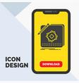 design app logo application design glyph icon in vector image vector image