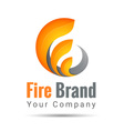 fire volume logo Colorful 3d Volume Logo Design vector image