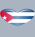 flag of cuba isolated on a white background vector image