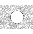 Flower pattern coloring for adults vector image vector image