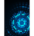 Glowing Blue Segmented Circles vector image vector image