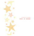 Golden stars textile textured vertical seamless vector image vector image