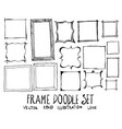 hand drawn frame isolated sketch black and white vector image vector image