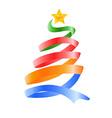 happy Christmas tree vector image