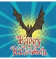 Happy Halloween bat vampire vector image