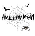 Happy halloween poster banner vector image