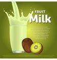 Kiwi sweet milkshake dessert cocktail vector image vector image