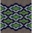 Knit Seamless Jacquard Ornament Texture Fabric vector image vector image