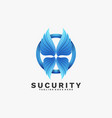logo security gradient colorful style vector image