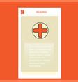 medical mobile vertical banner design design vector image vector image