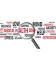 mental health words background vector image vector image