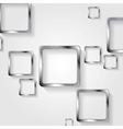 Metallic squares on white background vector image vector image