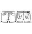 middle length shorts vector image vector image