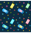 Mobile Phones Colorful Controllers Pattern vector image