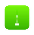 namsan tower in seoul icon digital green vector image