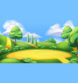 nature landscape park 3d background vector image
