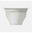 new yogurt box mockup realistic style vector image vector image
