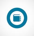 notepad bold blue border circle icon vector image