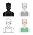 old manold age single icon in cartoon style vector image vector image