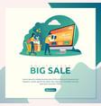 online shop big sale vector image vector image