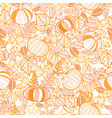 orange ornate pumpkins seamless repeat vector image vector image