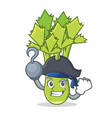 pirate celery character cartoon style vector image vector image