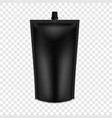 realistic black blank doy pack mock up vector image vector image