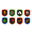 scout wilderness exploration camping badges stamp vector image